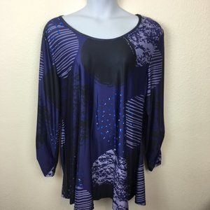 Lily Plus Size 3XL Abstract Space Print Tunic